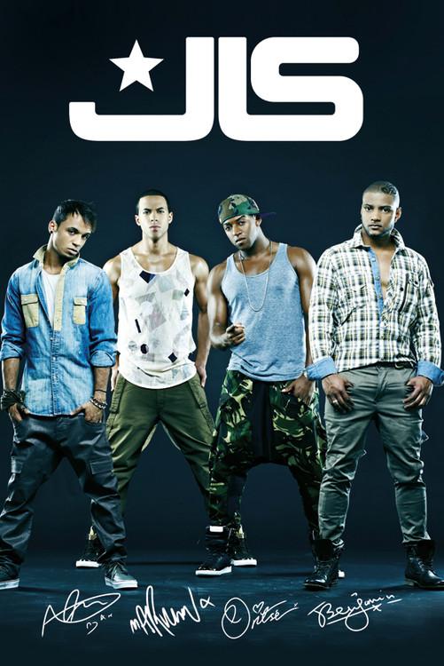 Plakat JLS - group