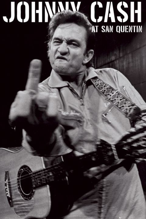Plakat Johnny Cash - san quentin portrait