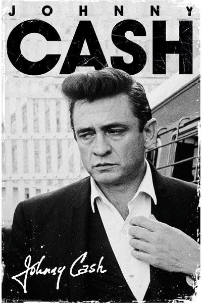 Plakat Johnny Cash - signature