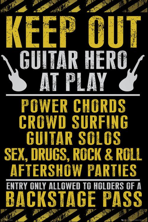 Plakat Keep out - guitar hero