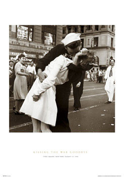 Plakat Kissing the war goodbye