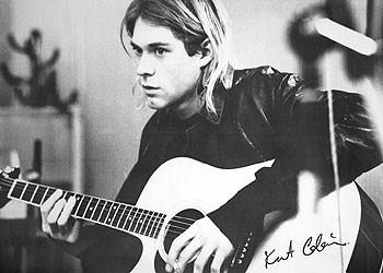 Plakat Kurt Cobain - guitar b&w PY