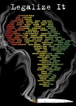 Plakat Legalize it - dope slang