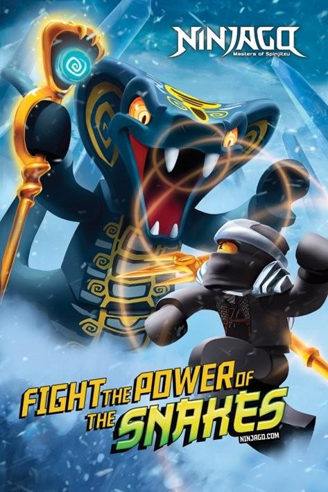 Plakat LEGO - ninjago power of snakes