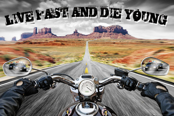 Plakat Live fast die young