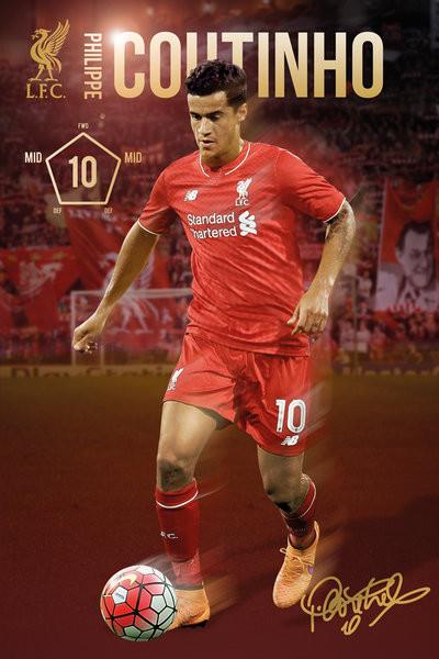 Plakat Liverpool FC - Coutinho 15/16
