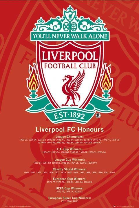 Plakat Liverpool - honours