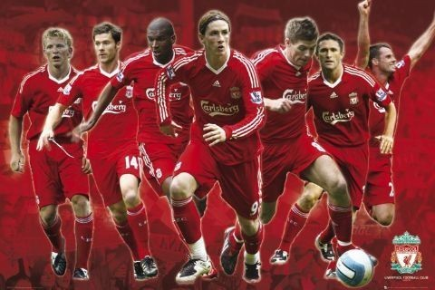 Plakat Liverpool - Players 08/09