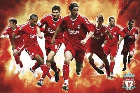 Plakat Liverpool - players 09/10