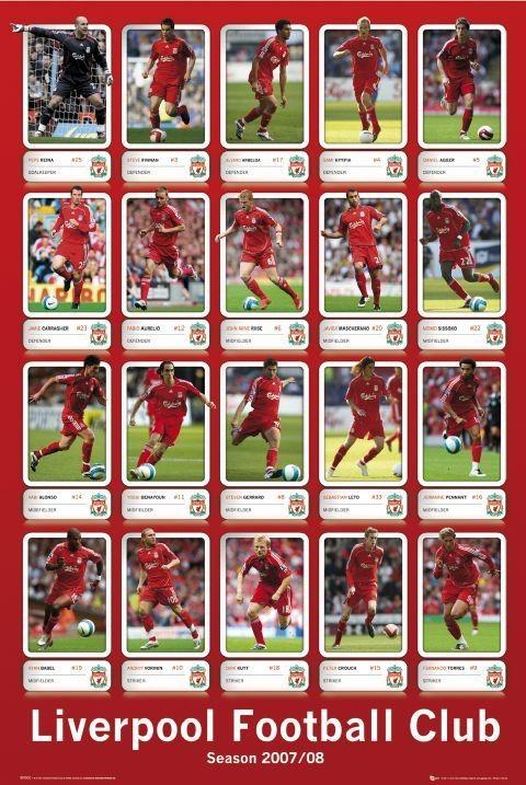 Plakat Liverpool - squad profiles 07/08
