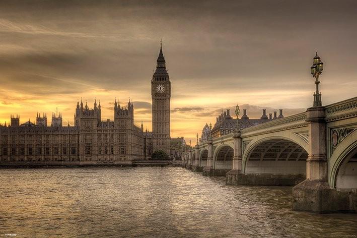 Plakat Londýn - Autumn Skies, Rod Edwards