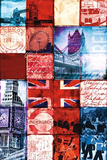 Plakat Londyn - Patchwork
