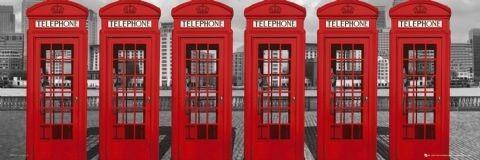 Plakat Londyn - phoneboxes