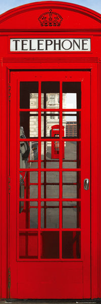 Plakat Londyn - telephone box