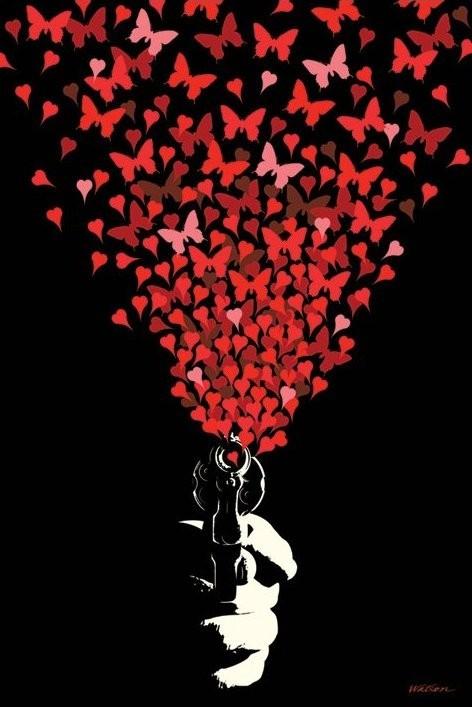 Plakat Love gun - malcolm watson