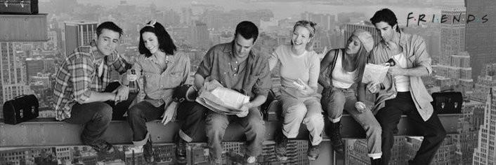 Plakat Lunch on a skyscraper - friends