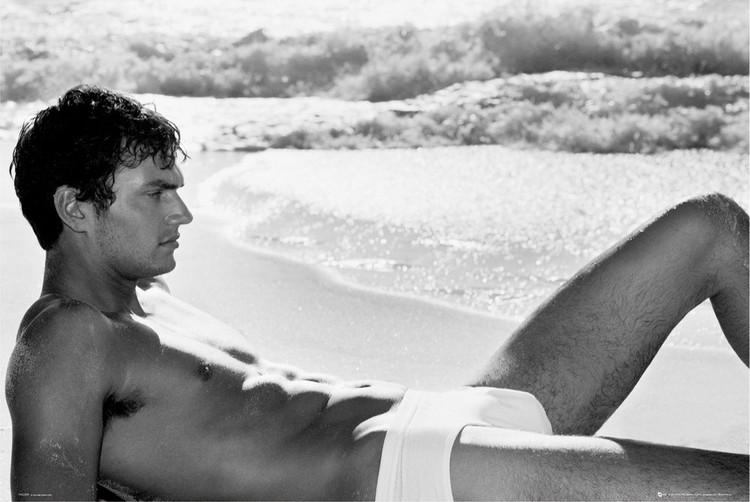 Plakat Male model - beach