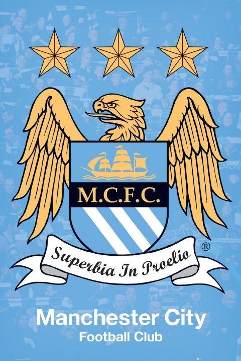 Plakat Manchester City - crest