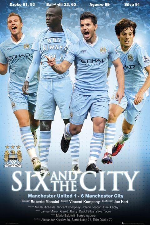 Plakat Manchester City - six-one