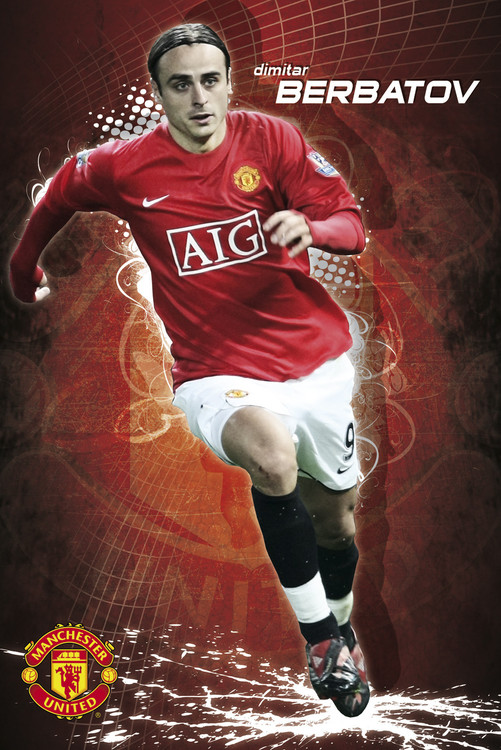 Plakat Manchester United - berbatov 08/09