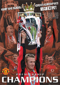 Plakat Manchester United - champions 03