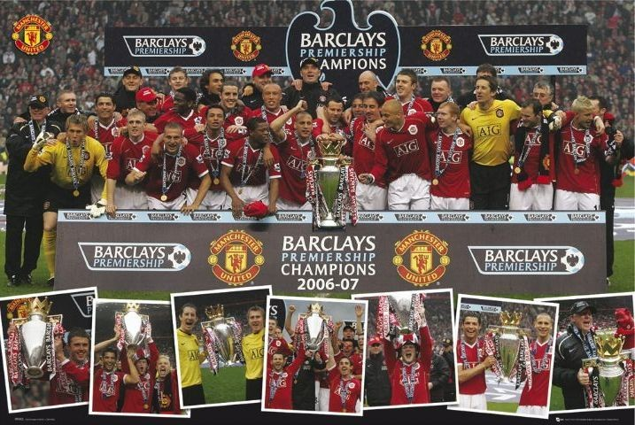 Plakat Manchester United - champions 06/07