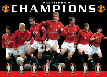 Plakat Manchester United - eight trophies