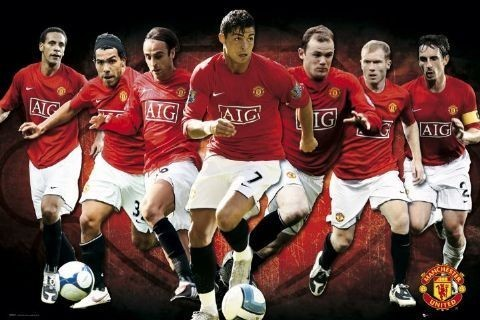 Plakat Manchester United - players 08/09