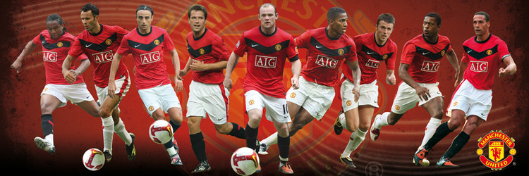 Plakat Manchester United - players 09/10