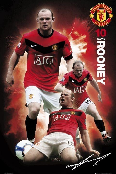 Plakat Manchester United - rooney 09/10