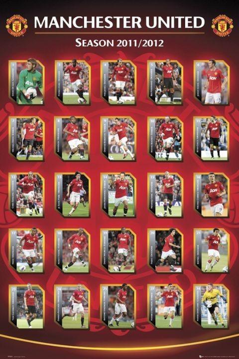 Plakat Manchester United - squad