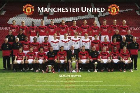 Plakat Manchester United - Team photo 2009/2010