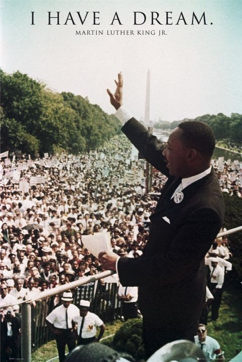 Plakat Martin Luther King Jr. - I have a dream