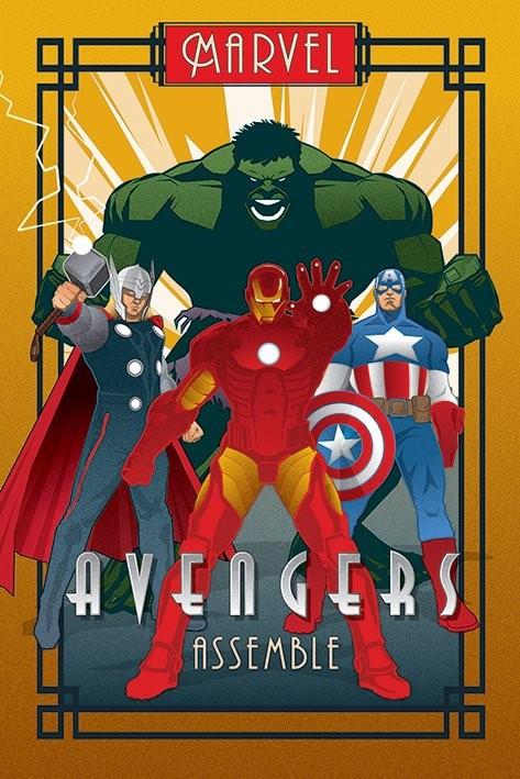 Plakat Marvel Deco - Avengers