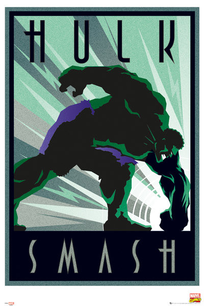 Plakat Marvel - Retro Hulk