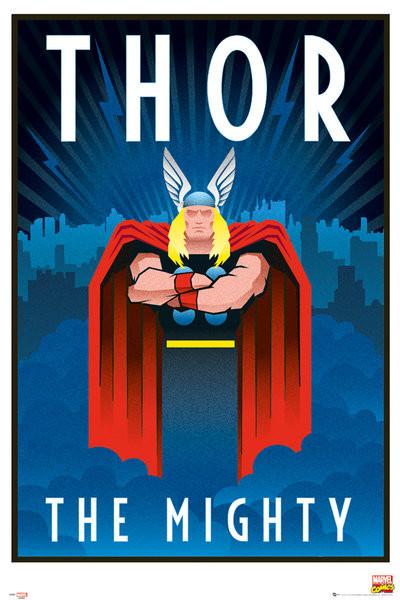 Plakat Marvel - Retro Thor