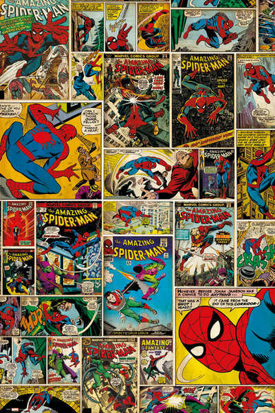 Plakat MARVEL - spider-man comic cover