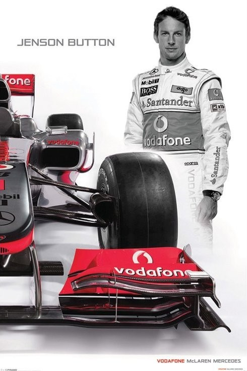Plakat McLaren Double - button