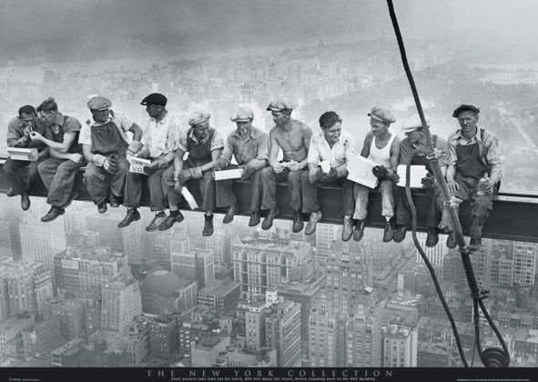 Plakat Men on girder - New York