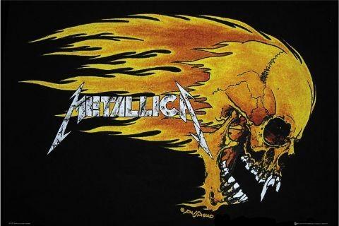Plakat Metallica - flaming skull