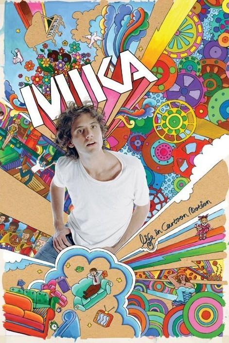 Plakat Mika - life in cartoon motion
