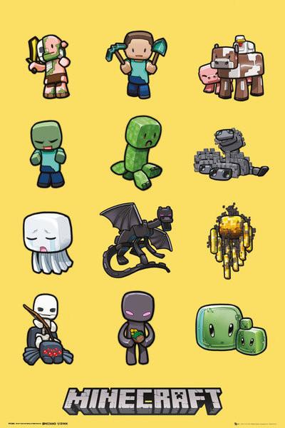 Plakat Minecraft - characters