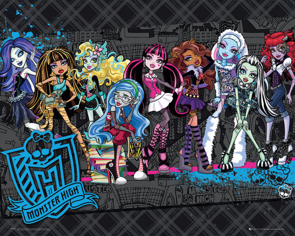 Plakat MONSTER HIGH - cast