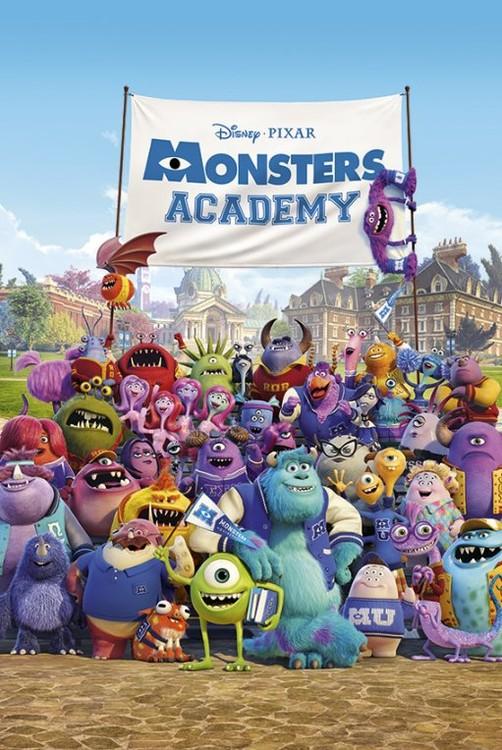Plakat MONSTERS UNIVERSITY - academy