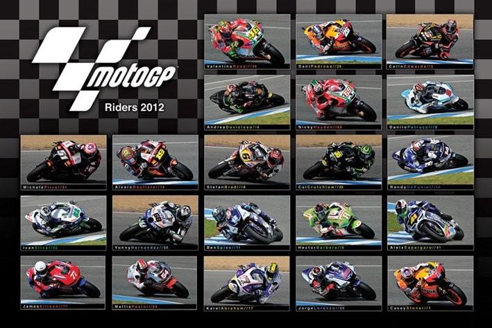 Plakat MOTO GP - 2012 riders