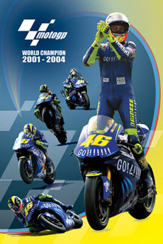 Plakat Moto GP - Rossi - champion