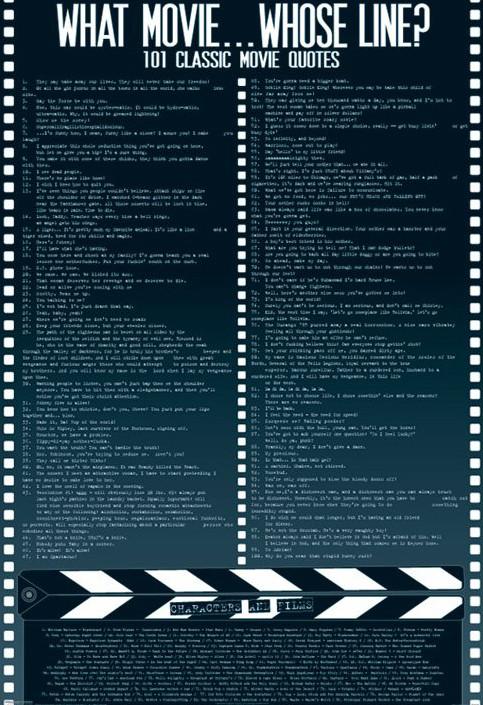 Plakat Movie quotes