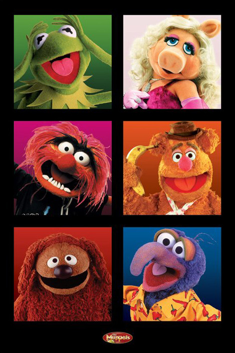 Plakat MUPPETS - character boxes