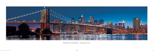Plakat NOWY JORK - Brooklyn bridge