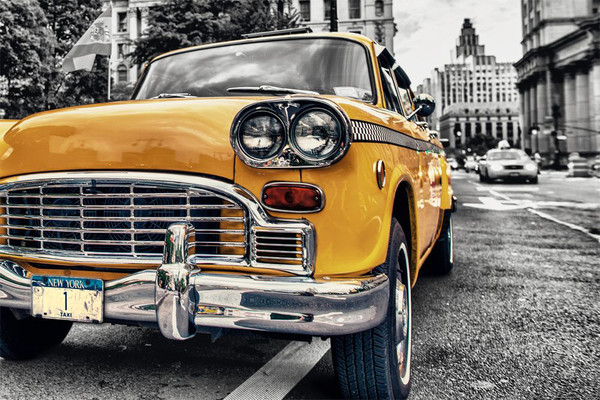 Plakat Nowy Jork - Taxi Yellow cab No.1, Manhattan